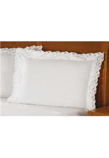 Fronha Para Travesseiro Plumasul Elegance Em Percal Com 233 Fios 50 X 90 Cm - Branca