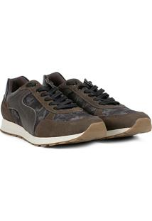 Tênis Shoestock Jogging Camuflado Masculino - Masculino-Verde Militar