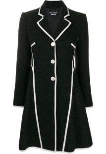 Boutique Moschino Jaqueta De Tweed Com Textura - Preto