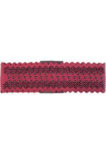Cinto Cintura Elastico Bordado Brilho Vermelho - Tu