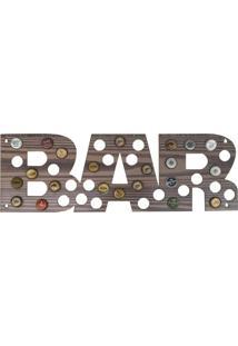 Quadro Porta Tampinhas D'Rossi Mdf Madeira Horizontal 20X60 Bar