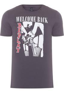 Camiseta Masculina Welcome Back - Cinza