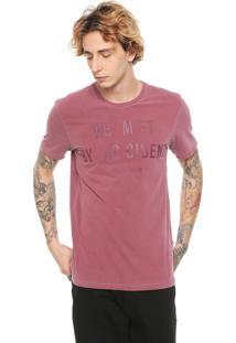 Camiseta John John Accident Vinho