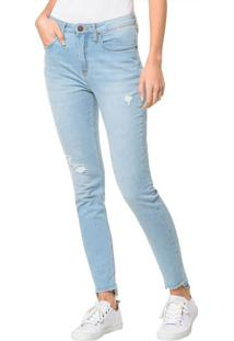 Calça Jeans Five Pockets Ckj 010 High Rise Skinny - Azul Claro Calça Jeans Five Pockets High Rise Skinn - Azul Claro - 34