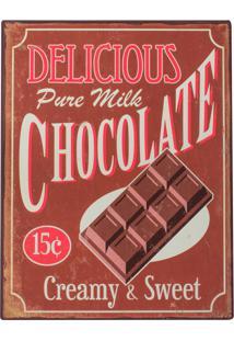 Placa Decorativa Chocolate