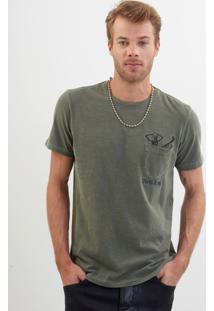 Camiseta John John Rx Chilling Skull Malha Verde Masculina Tshirt Rx Chilling Skull-Verde Escuro-P