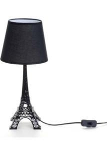 Abajur Torre Eiffel Preto Branco