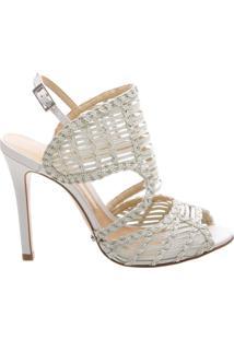 Sandália Texture Stiletto Pearl | Schutz