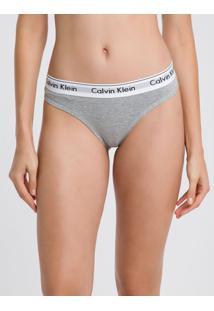 Calcinha Tanga Clássica Cinza Mescla Underwear Calvin Klein - L