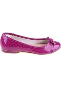Sapatilha Shop Shop Shoes Biqueira Laço - Feminino-Rosa