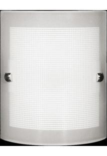Arandela Calha Quadriculada 2L 3310 Bc Branco