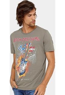 Camiseta Colcci Rock Festival Masculina - Masculino