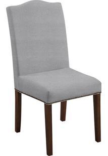 Cadeira De Jantar Silvia Couro Sintético Cinza