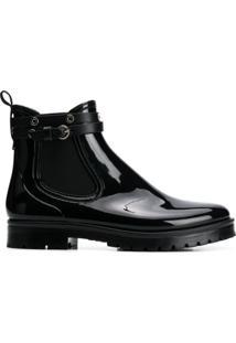 Red Valentino Ankle Boot Com Fivela - Preto
