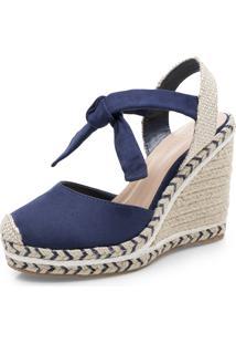 Sapato Corello Espadrille Azul Marinho