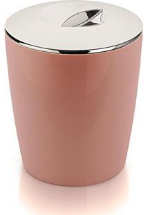 Lixeira Cromo Vitra Rosa Ou 5L (Rosa)
