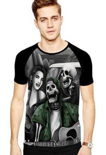 Camiseta Stompy Raglan Modelo 131 Masculina - Masculino-Preto