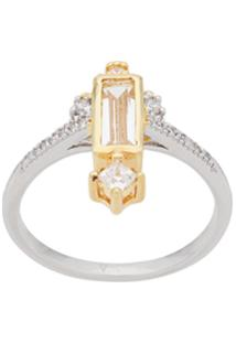 V Jewellery Anel Eshan Retangular - Prateado
