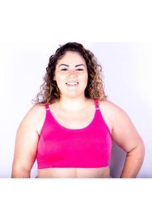 Sutiã Plus Size Jam Lingerie Top Gatria Reforçado Feminino - Feminino-Pink