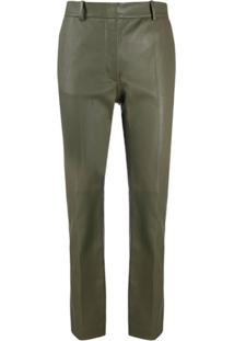 Joseph High-Rise Cropped Slim-Fit Trousers - Verde