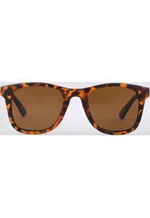Óculos De Sol Quadrado Feminino Yessica Tartaruga