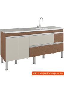 Balcão De Cozinha Prisma 3 Pt 3 Gv Amêndoa E Off White