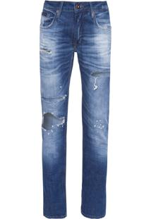 Calça Masculina Skinny Five Pockets - Azul
