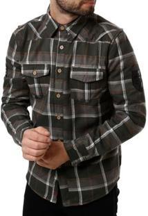 Camisa Forrada Manga Longa Masculina Gangster Verde
