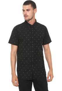 Camisa Billabong Reta All Day Jacquard Preta
