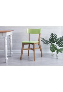 Cadeira De Mesa De Jantar Bella - Amêndoa E Verde Pistache 44X51X82 Cm