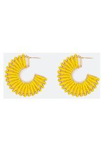 Brinco Formato Argola De Miçangas | Accessories | Amarelo | U