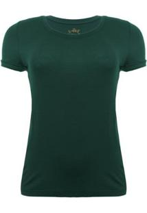 Camiseta Aleatory Viscolycra Verde Feminina - Feminino