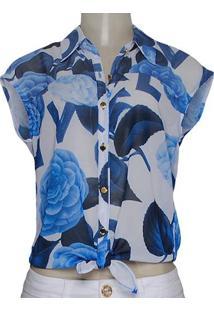 23d38249fa6ad ... Camisa Fem Dopping 011857501 Branco Azul