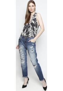 Jeans Boyfriend Destroyed- Azulforum