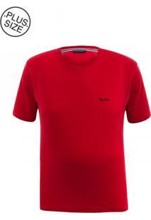 Camiseta Plus Size Basic Red
