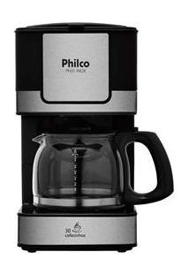 Cafeteira Elétrica Philco Ph31 - Preto/Aço Escovado