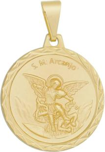 Pingente São Miguel Arcanjo Tudo Joias Folheado A Ouro 18K Dourada