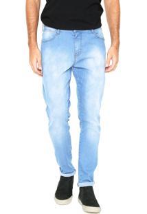 Calça Jeans Coca-Cola Jeans Slim Estonada Azul