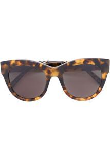 R  2371,00. Farfetch Óculos De Sol Marrom Feminino Stella Mccartney Fag De  Sol - Eyewear Gatinho 023327122d