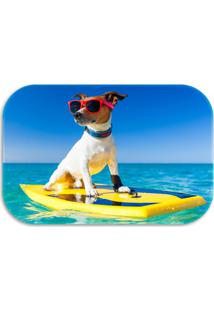 Tapete Decorativo Wevans Dog Summer 40Cm X 60Cm Azul