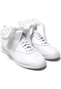 Tênis Reebok Freestyle Hi Bow Feminino - Feminino-Branco