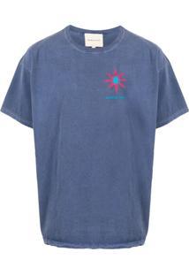 Nicholas Daley Camiseta Decote Careca Cosmic Sun - Azul