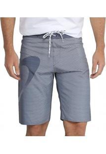 Bermuda Oakley Faded Lines Masculina - Masculino-Cinza