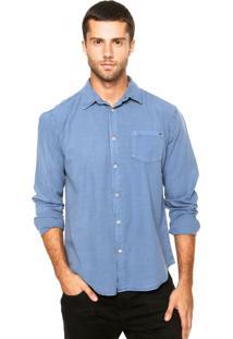 Camisa Triton Bolso Azul