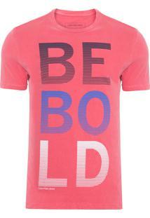 Camiseta Masculina Estampa Estonada - Vermelho