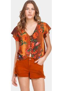 Blusa Estampada Com Botões Souk - Lez A Lez