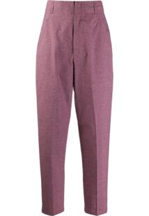 Isabel Marant Étoile High Waisted Loulia Checked Trousers - Rosa