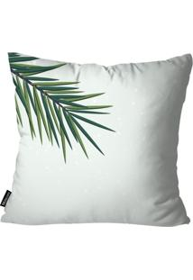 Capa Para Almofada Mdecor De Natal Palma Branco