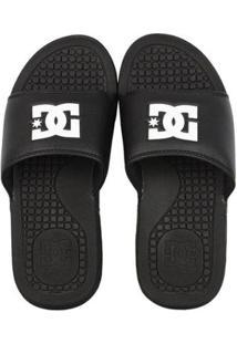 Chinelo Dc Shoes Slider Bolsa - Masculino-Preto