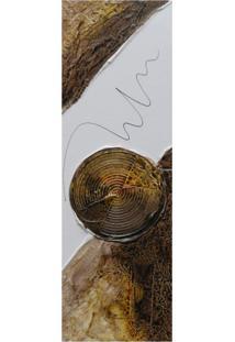 Quadro Artesanal Com Textura Abstrato Marrom 20X60Cm Uniart